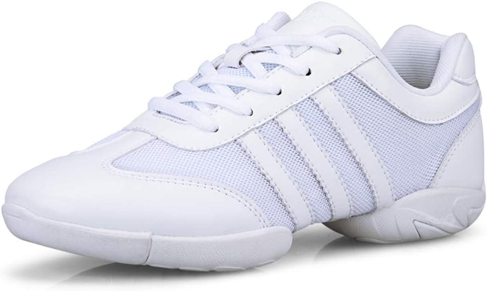 MEILISHOE Zapatos de aeróbicos competitivos Zapatos de Animadora de Fondo Suave Zapatos de Entrenamiento Zapatos de Baile Cuadrados Blancos Zapatos de Gimnasia para Adultos: Amazon.es: Deportes y aire libre
