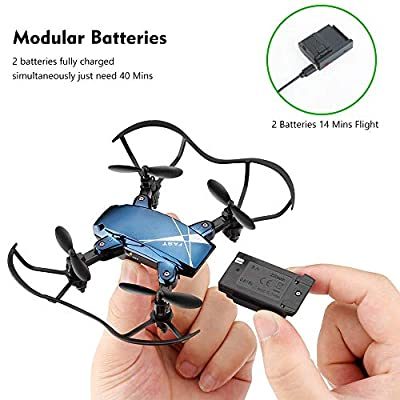 zuhafa S9M Foldable Mini Drones, Mini RC Drones with Camera 720P HD, Portable Drone with Altitude Hold 3D Flips and Headless Mode, Pocket Quadcopter for Boys and Girls: Toys & Games