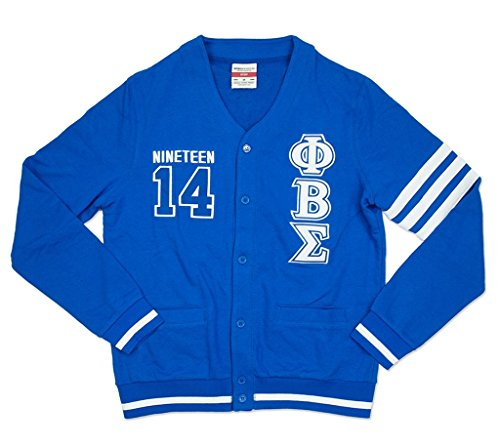 - Phi Beta Sigma Fraternity Mens New Cardigan Sweater Medium Royal Blue
