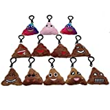 Poop Emoji Keychain Plush Toy Mini Kids Pillow Set, Emoticon Key Chains Pendant Decoration Backpack Clip, Birthday Party Supplies Favor for Boy and Girl, Novelty Gift Student Prizes, 2.4 Inch 12 Pack