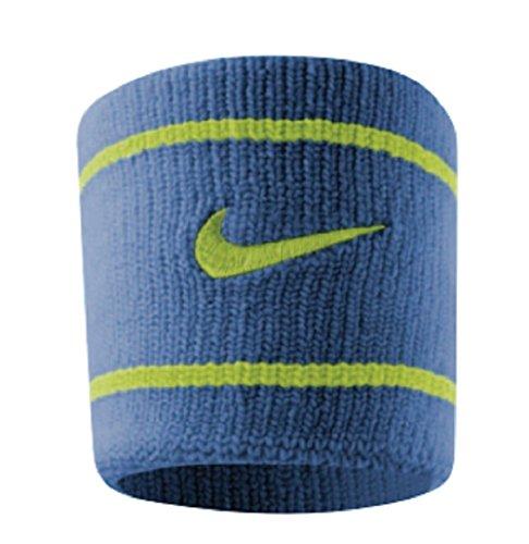 Nike Baseball Wristbands (Nike Dri-Fit Wristbands (1 Pair, One Size Fits Most, Blue Venom/Volt))