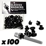 Sleeved Washers for tension rods - Black - 100 Pack