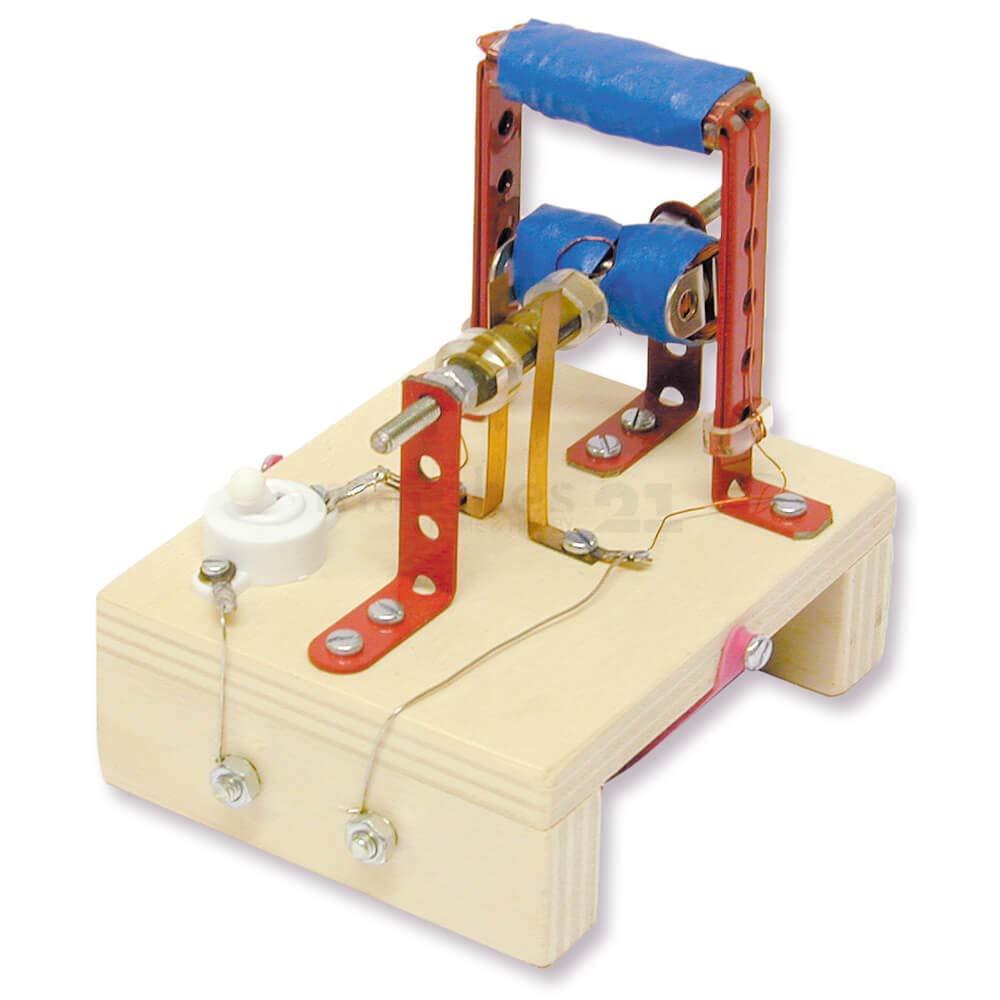 Funktionsmodell Elektromotor 7x7x6 cm Kinder Bausatz Werkset Bastelset ab 13 J.