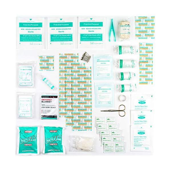 51HulQoCzWL Erste Hilfe Set - 90-teiliges Premium Erste-Hilfe-Set - enthält Sofort Kühlpacks, Augenspülung, Rettungsdecke für zu…