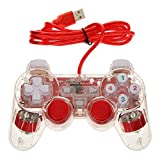 Red USB 2.0 Vibration Gamepad Game Controller Joypad Joystick for Computer Laptop Pack of 1
