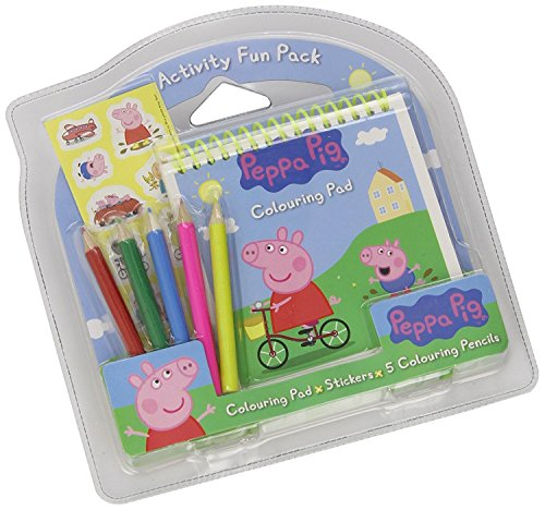 Alligator Peppa Pig Activity Fun Pack Stickers,5 Colouring Pencils,Colouring Pad