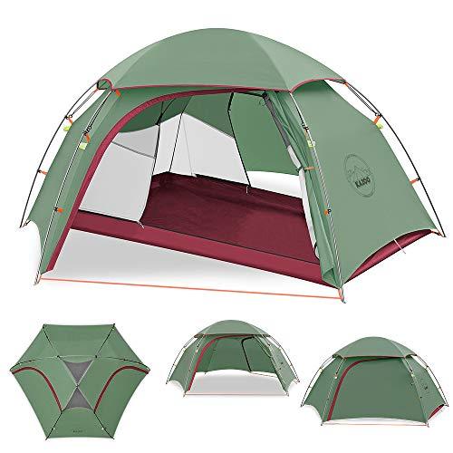 KAZOO Ultraleicht Camping Zelt Wasserdicht Trekking Outdoor Wasserdicht zelte 2 Personen Doppelschicht Kuppelzelt Zelt 3…