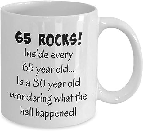 Happy 65 ans 1953 65e anniversaire Mug cadeau pour femme ou Homme