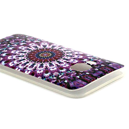 Einzige Colorful Soft Gel Flexible TPU Silicone Skin Case Cover for HTC One M9 (Carpet 03) with Free Universal Screen-stylus