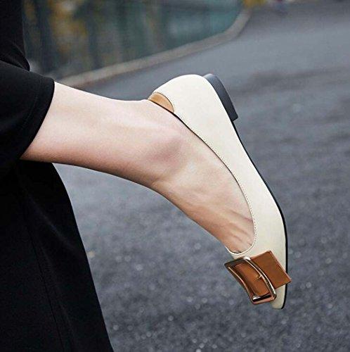 de Hebilla la la Mujer Cintur de Zapatos del Ocasionales Zapatos Planos pwq8EE