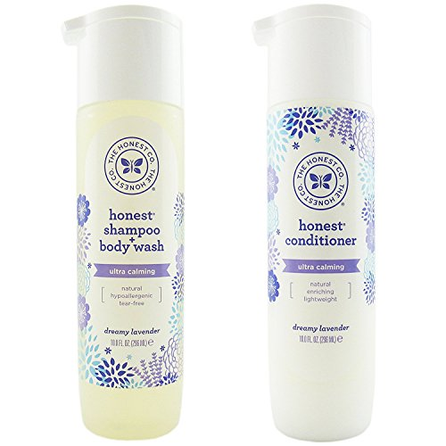 The Honest Company Dreamy Lavender Shampoo and Body Wash and Conditioner Combo Pack of 2 Alba Health Care Steps