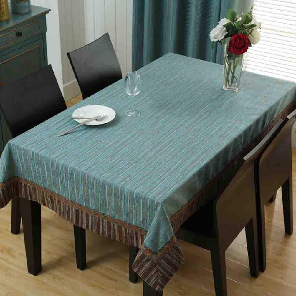 洗えるテーブルクロス テーブルクロスコットンリネン長方形ダイニングテーブルクロスホームコーヒークロステーブルマット (Color : C)  C B07S8M8W88