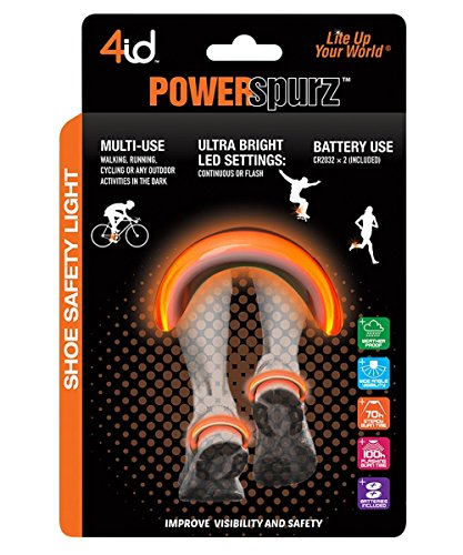 Power Spurz Shoe Safety Light: Orange