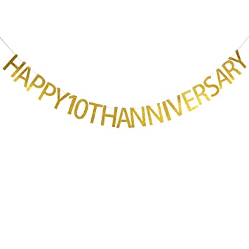 amazon com happy 10th anniversary banner party decor for company