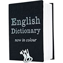Stalwart Trademark Home Dictionary Diversion Book Safe with Key Lock, Metal - Small