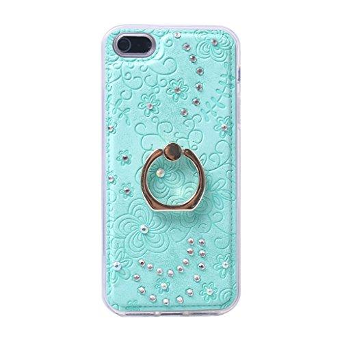 iPhone 5 / 5s Hülle, Apple iPhone 5 5s Hülle Lifetrust®[ Blau ] Schutzhülle Flip PU Ledertasche Ständer Schutzhülle Tasche Hülle Case Cover mit Kreditkartensteckplätze für Apple iPhone 5 5s