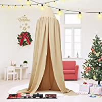 Jeteven Cotton Canvas Dome Bed Canopy Kids Play Tent...