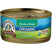 Newman's Own Organics 95% Chicken Dinner Grain-Free Food for Cats, 5.5-Ounce (Pack of 24)
