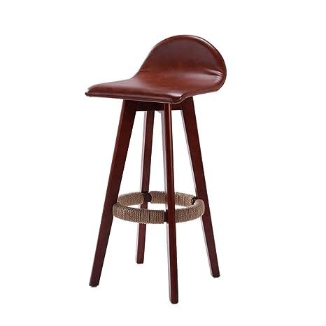 Prime Amazon Com Hong Jie Yuan Bar Stool Solid Wood Bar Chair Beatyapartments Chair Design Images Beatyapartmentscom