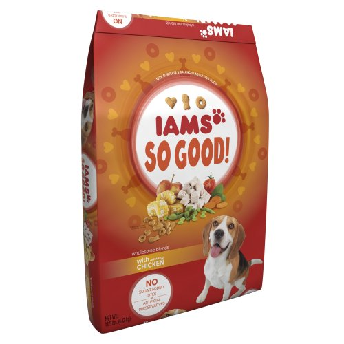 Iams So Good Wholesome Blends with Savory Chicken Adult Dog Food, 13.5-Pound, My Pet Supplies
