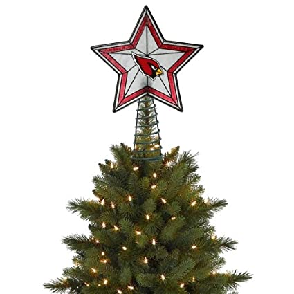 arizona cardinals star christmas tree toppers