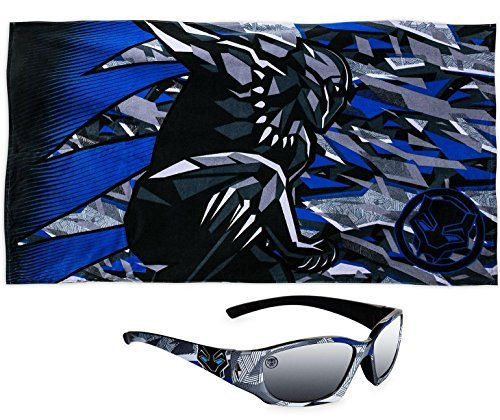 Black Panther Marvel Premium Beach Towel PLUS Kids Sunglasses by Black Panther