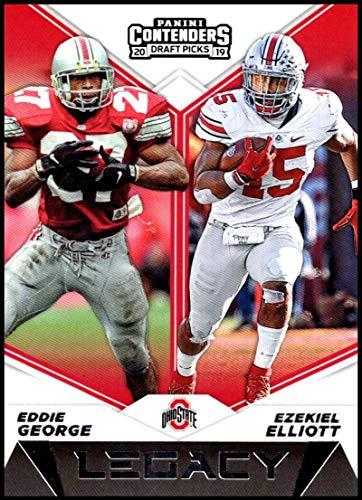 2019 Panini Contenders Draft Tickets Legacy #17 Eddie George/Ezekiel Elliott Ohio State Buckeyes NCAA Football Trading Card