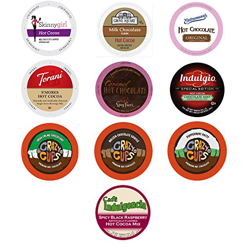 Hot Cocoa and Chocolate Variety Sampler Pack for Keurig K-Cup Brewers, 10 Count