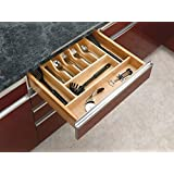 Rev-A-Shelf - 4WCT-3SH - 2-3/8 in. Large Cabinet Drawer Wood Cutlery Tray Insert