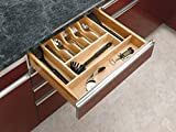Custom Kitchen Cabinets Rev-A-Shelf - 4WCT-3SH - 2-3/8 in. Large Cabinet Drawer Wood Cutlery Tray Insert