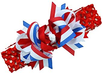 4th of july bow baby