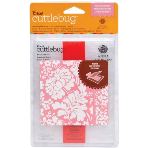 Brand New Cuttlebug A2 Embossing Folder/Border Set-Blossom Dance By Anna Griffin Brand New