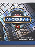 Pearson Texas, Algebra I, Student Text and Homework Helper, 9780133300635, 0133300633