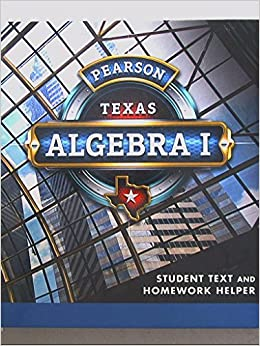 Pearson Texas Algebra 2 Student Text And Homework Helper ―
