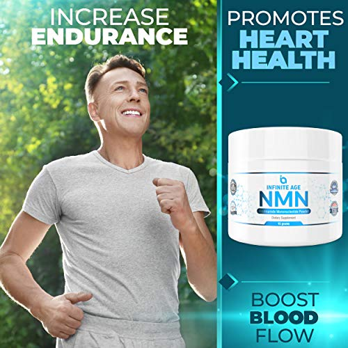 51HupCOLapL - NMN Supplements, NMN Nicotinamide Mononucleotide, Nad Booster By Infinite Age  NMN Powder 15 GRAMS (Per Jar) For Anti Aging, Brain Function, Stress, Health, Energy. NMN Molecule Supplement