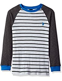 Boys' Long Sleeve Fancy Crew Neck Thermal