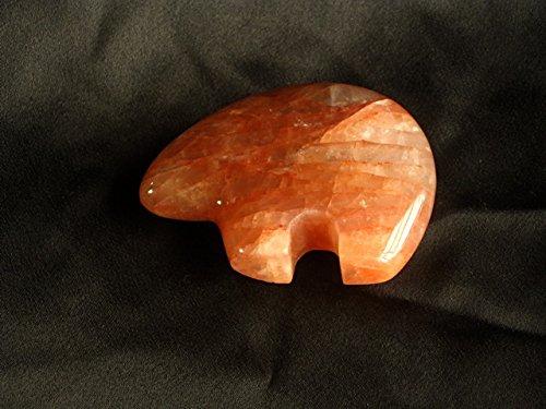 Madagascar Minerals Fire Quartz Fetish Bear Carving