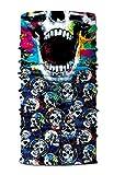 Festie Fever Multi Skull Rave Bandana Multifunctional Seamless Mask (Colorful)