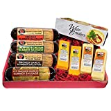 Mancave Ultimate Men s Cheese & Sausage Gift Basket - features Summer Sausages, 100% Wisconsin Cheeses and Crackers | Great for gifts!