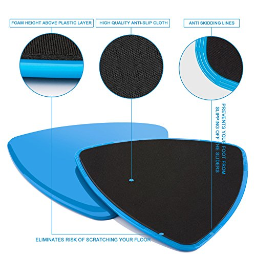0a3473dfe61d VANWALK Gliding Discs Exercise Sliders – 8 Pack - Core Floor - Import It All