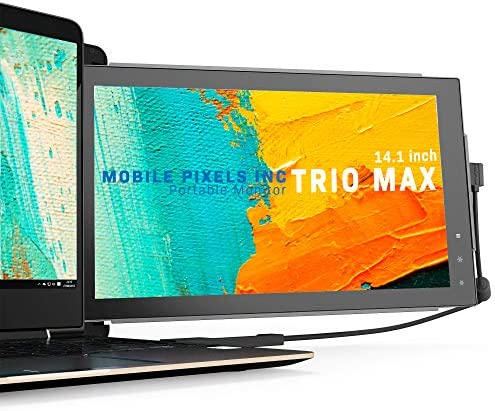 Mobile Pixels Trio Max Portable Monitor, 14'' Full HD IPS Dual or Triple screens for laptops, USB C / USB A powered transportable show with touch-sensitive menu ,Windows/OS/Android System Compatible