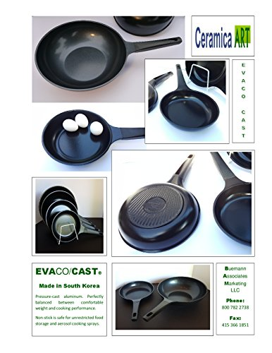 "Evaco/Cast Fait Tout (Stir Fry/Saute pan) 12"" induction ES130-BIH"