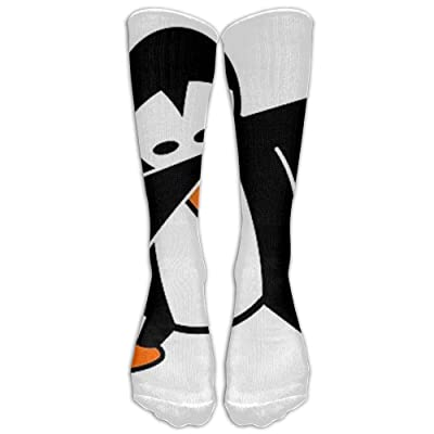 yiyuanyuantu Penguin Dabbing Socks, SHI FU Funny Novelty Dress Crew Cotton Funny Stockings, One Size 50CM: Deportes y aire libre