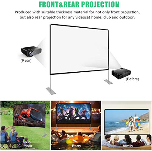 Televisions & Video WASJOYE 100 inch 16:9 Projector Screen with ...