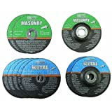 4'' Grinding and Cut-off Wheel Assortment for Metal and Masonry, Pack of 10