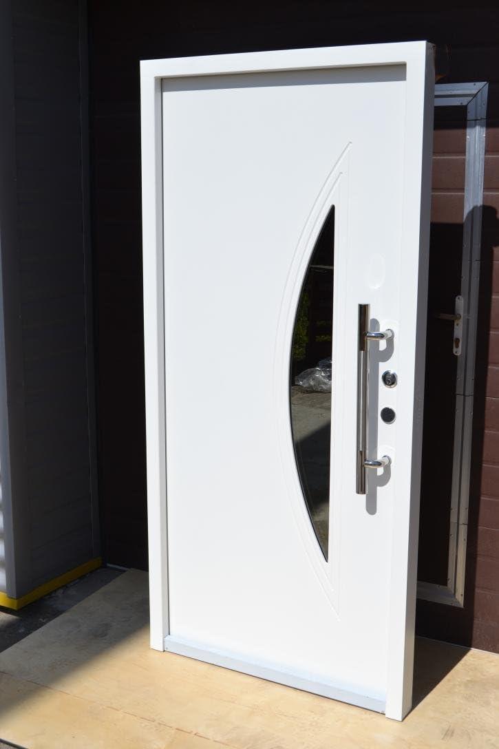 Nº 1, diseño Hogar Puerta, Puerta En Color Blanco 100x 210cm, DIN derecha Vidrio de Seguridad de pieza interior puerta además de entrada de puerta puertas