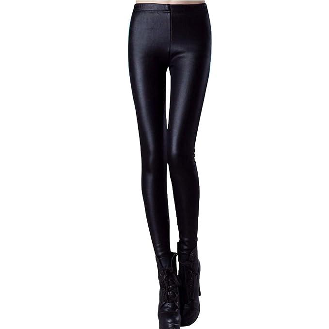 0f742f4d12e10a Womtop Woman Leggings Pants Winter Thick Faux Leather Leggings Warm Plus  Velvet Junior Pants (S