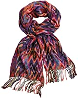 Women's Abstract Flamestitch Chevron Scarf