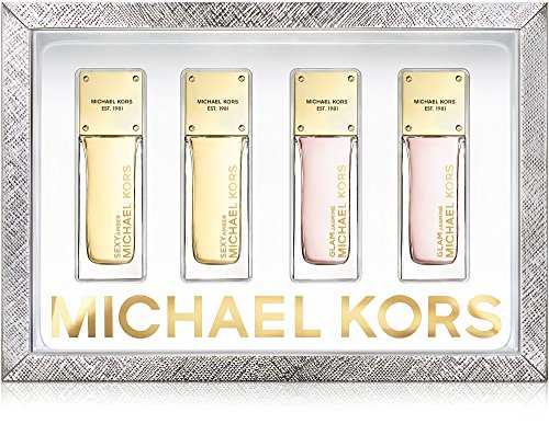 Michael Kors Collection Coffret 4 Piece Eau de Parfum Miniature Set: 2 Bottles Sexy Amber + 2 Bottles Glam (4 Piece Miniature Set)