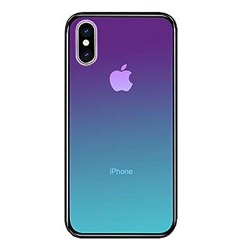 LAYJOY Funda iPhone XS MAX, Carcasa de Ligera Silicona Suave TPU Gel Bumper y Transparente Cristal Templado Case de Protectora Anti-Golpes, ...